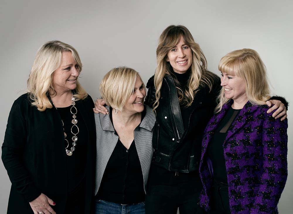 Michelle Young (second to the right) and other members of the 'First Wives Club