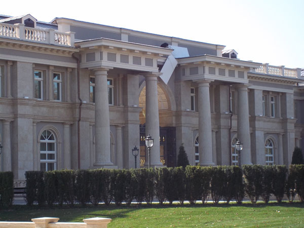 Exterior of Putin's Palace in Russia