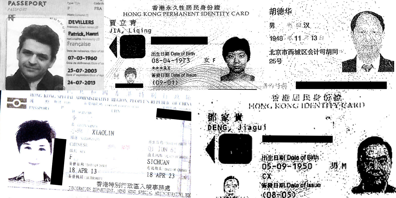 Identity documents from the Panama Papers