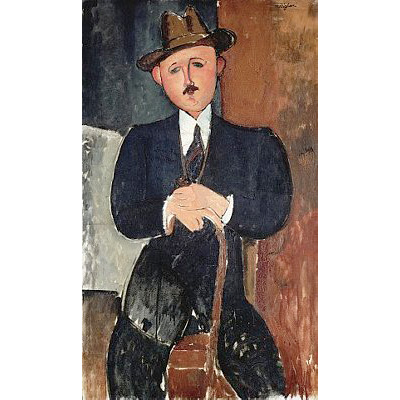 Seated Man (Leaning on a Cane) by Amedeo Modigliani