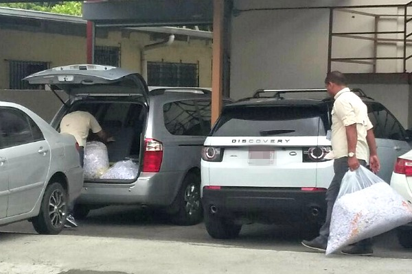 Investigators removed bags of shredded paper from a Mossack Fonseca facility in Panama