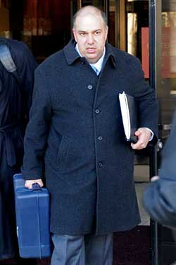 Hedge fund manager Francisco Illarramendi leaves court in 2011 where he plead guilty to five federal charges