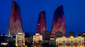 Baku's dramatic Flame Towers: part of Azerbaijan's oil-financed building boom