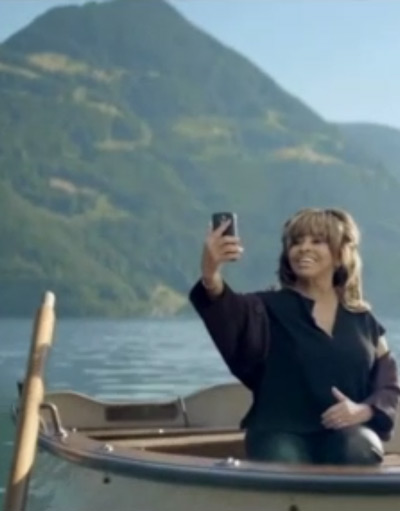 Swiss citizen Tina Turner in an ad for Swisscom