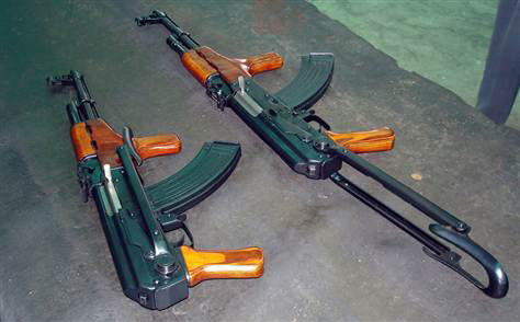 Chinese-made guns that were seized en-route to Libya