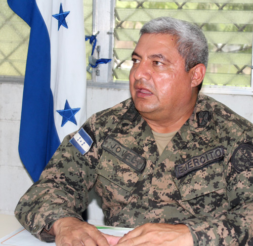 Colonel Rene Jovel, commander of a military campaign to stabilize the land conflict