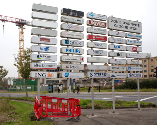 A cluster of companies on the 'Cloche d'Or' area of Luxembourg