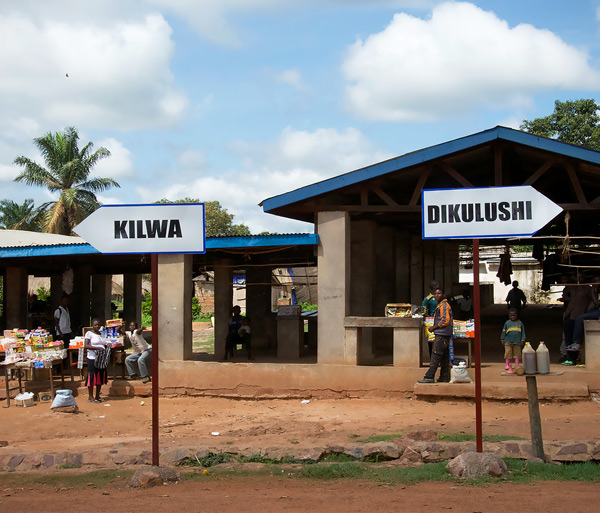 The road from Dikulushi mine passes through Kilwa on the way to the port on Lake Mweru