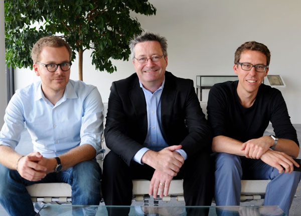 From left, Frederik Obermaier, Gerard Ryle and Bastian Obermayer