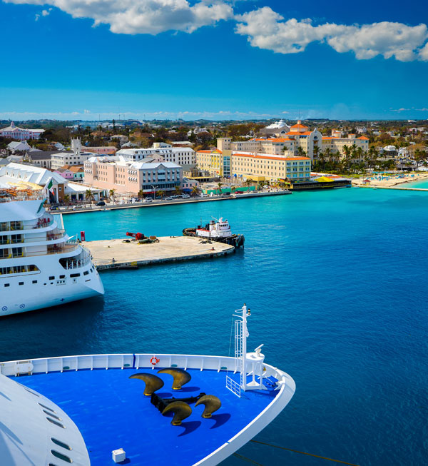 The Bahamas' capital, Nassau, is home to cruise ships, resorts and offshore service providers